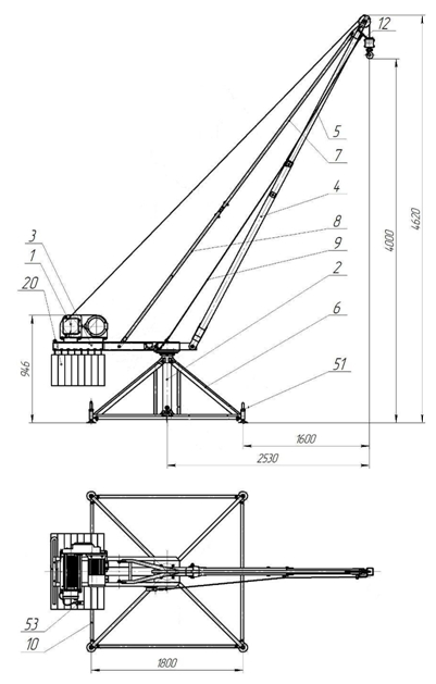 Строительные краны типа Пионер и Кран в окно Умелец