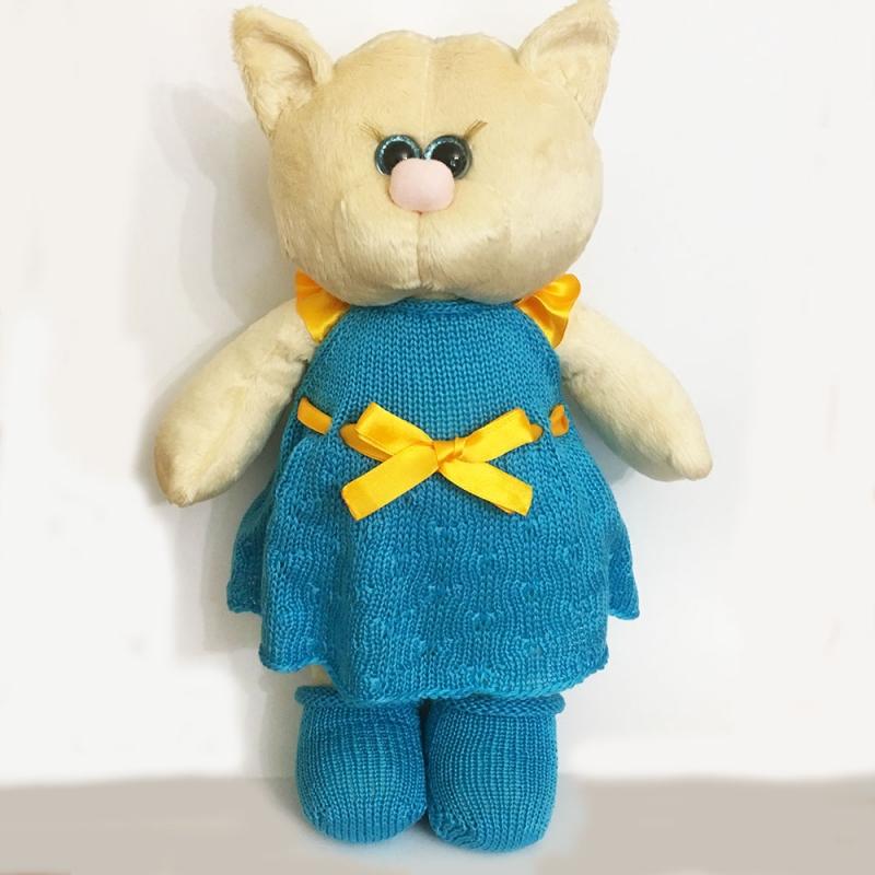 Мягкая игрушка кошка в платье